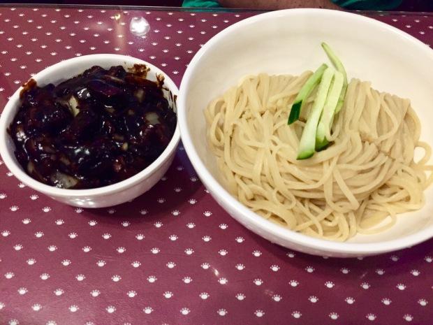 Da Rae Won Noodles with Black Bean Sauce