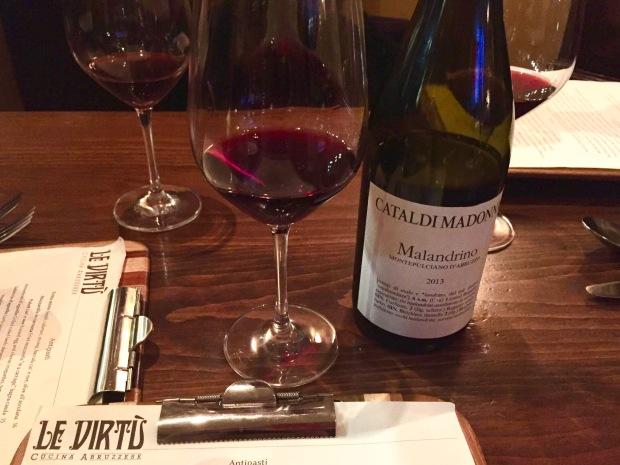 Le Virtu Montepulciano red wine: Cataldi Madonna Malandrino