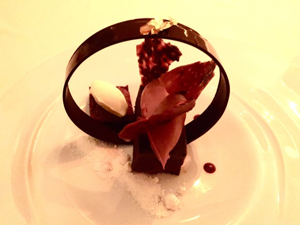 Marcel's chocolate mousse with crispy praline