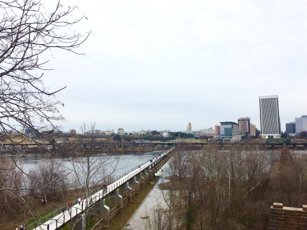 Richmond James River pedestrian bridge