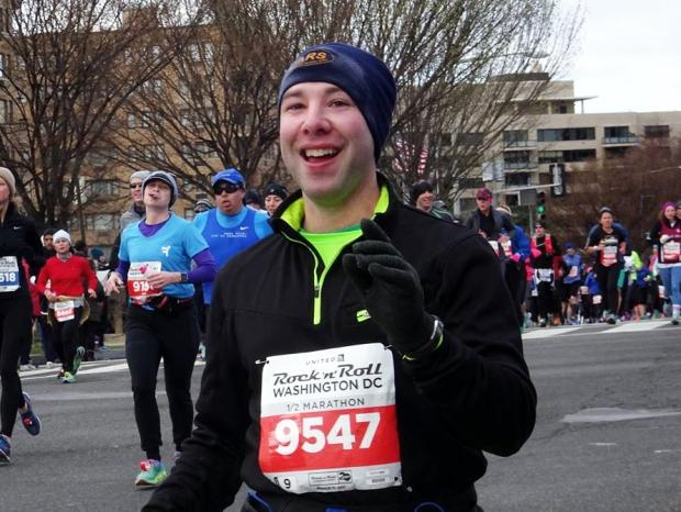 Paul running the DC Rock n Roll Half Marathon