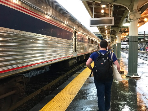 Paul boarding the Amtrak Crescent train at Union Station