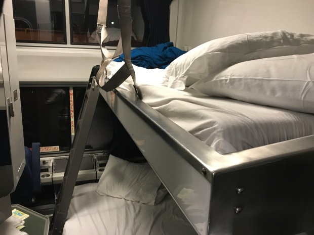 Amtrak Crescent train sleeper car beds