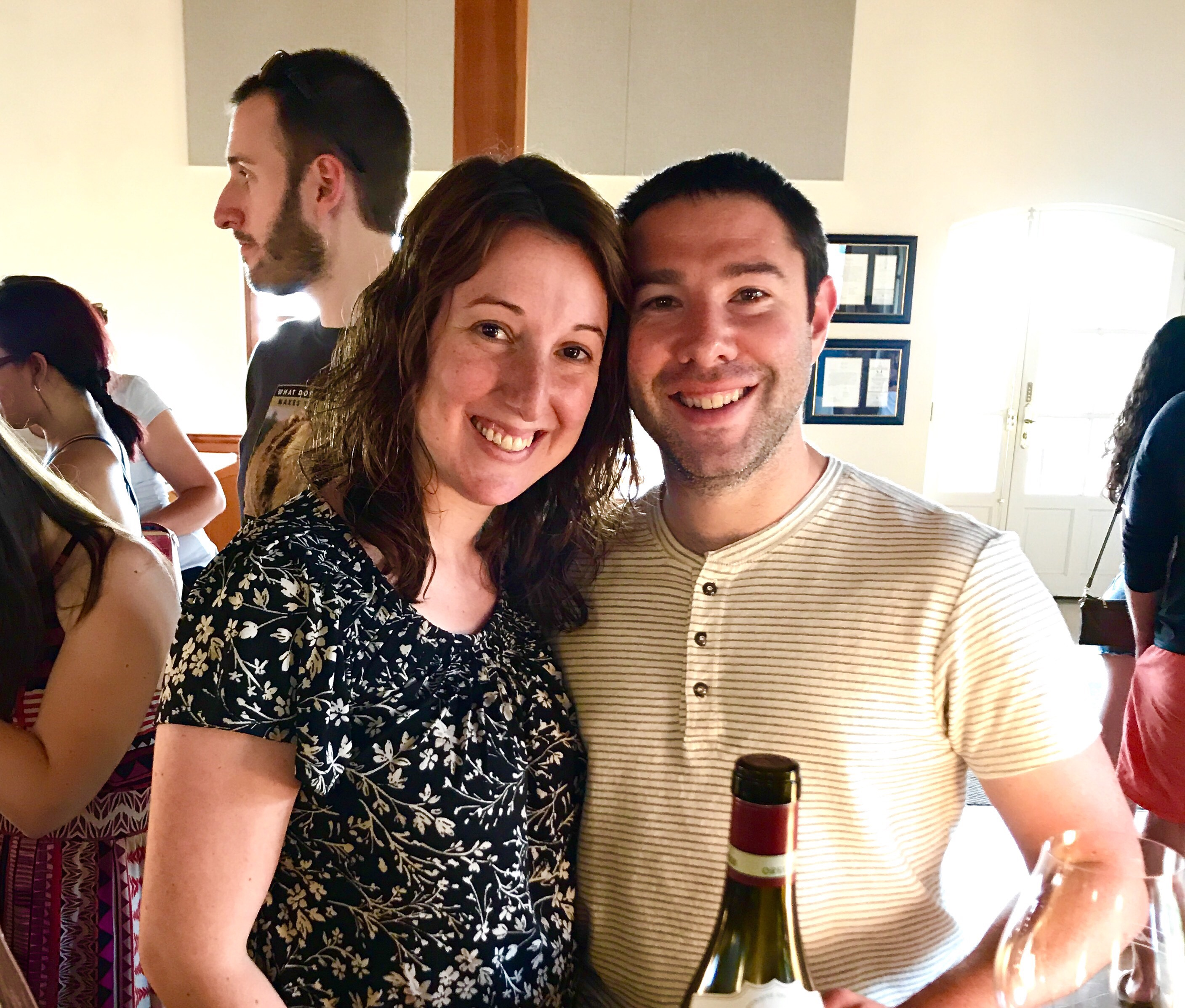Paul and Marnay at Domaine Drouhin