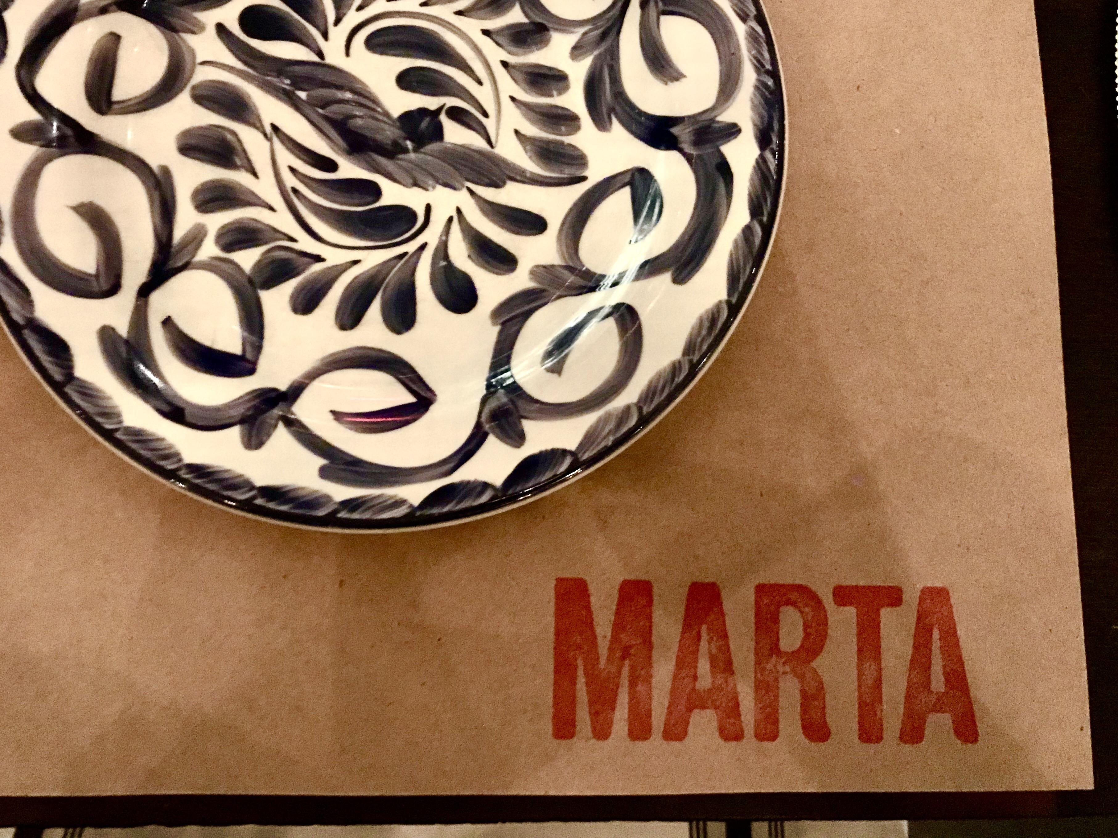 Marta plate