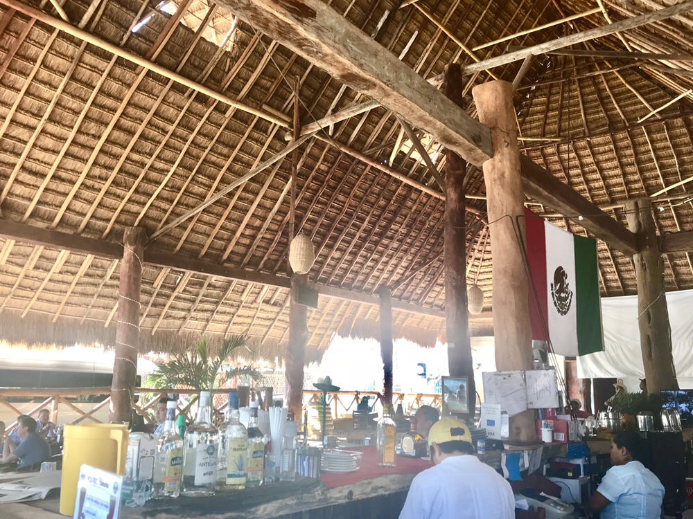 Drinking Mezcal and Tecate at El Mariachi Loco in Tulum, Mexico