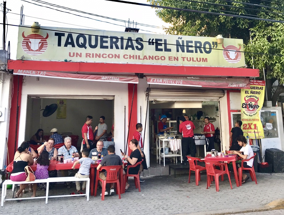 Taqueria el Nero in Tulum, Mexico