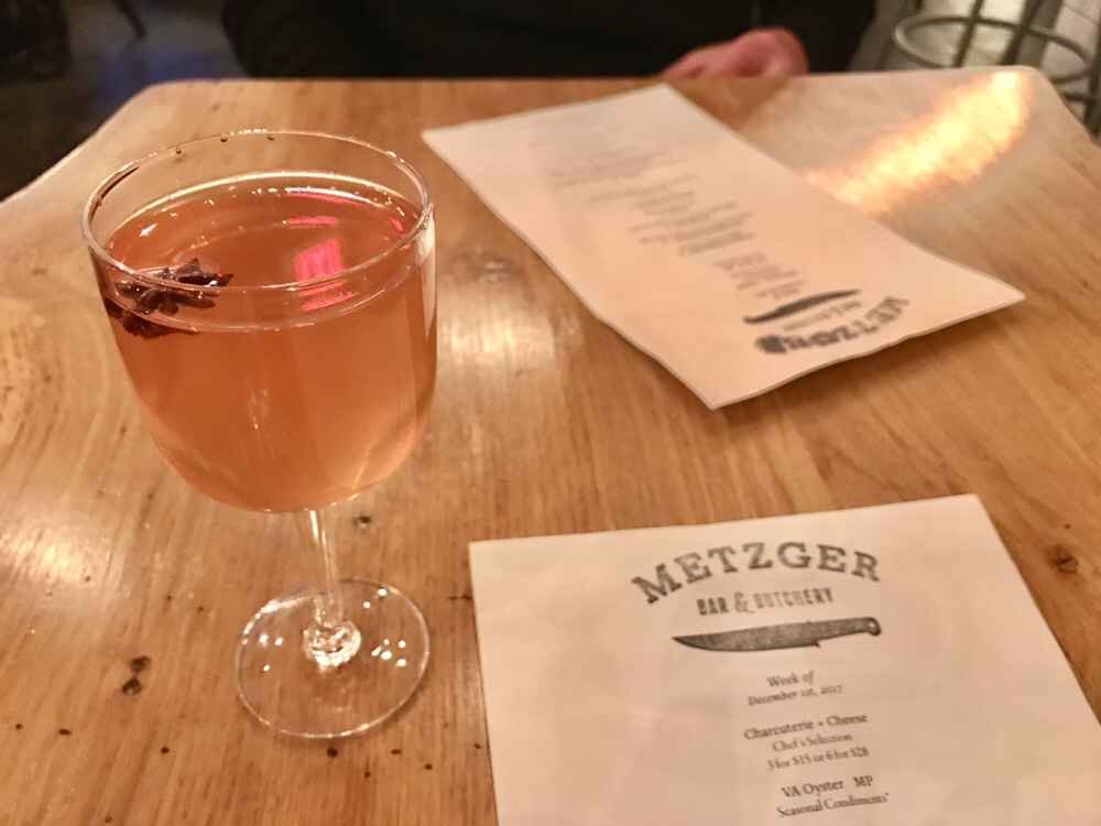 Metzger Bar & Butchery cocktail