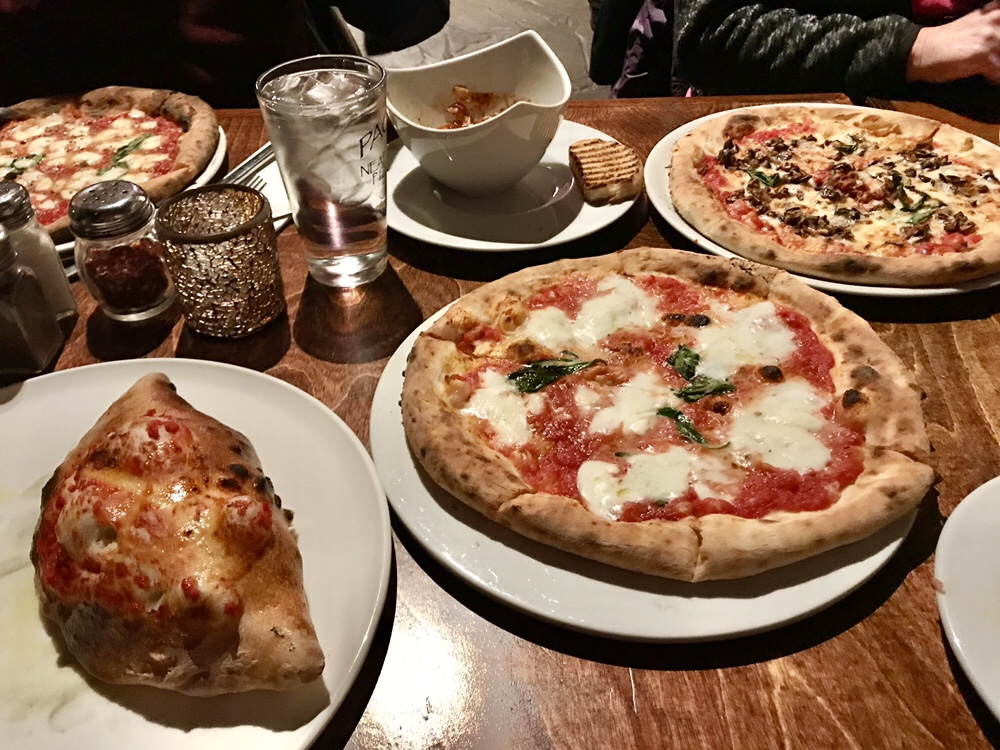 Calzone and pizza at Pacci's in Silver Spring, Maryland