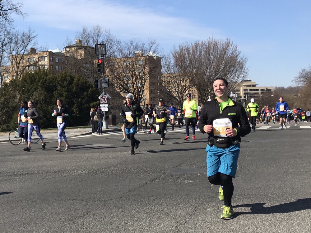 Paul Meyer running in the 2018 DC Rock n Roll Half Marathon