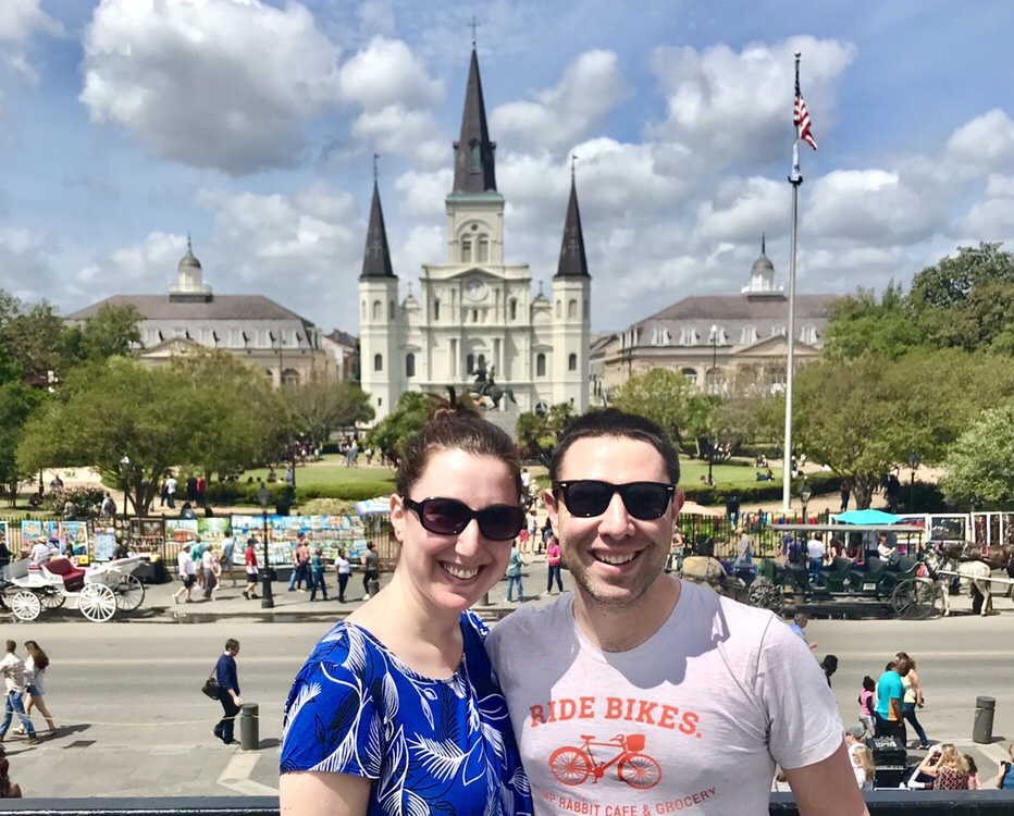 Marnay and Paul in New Orleans, Louisiana