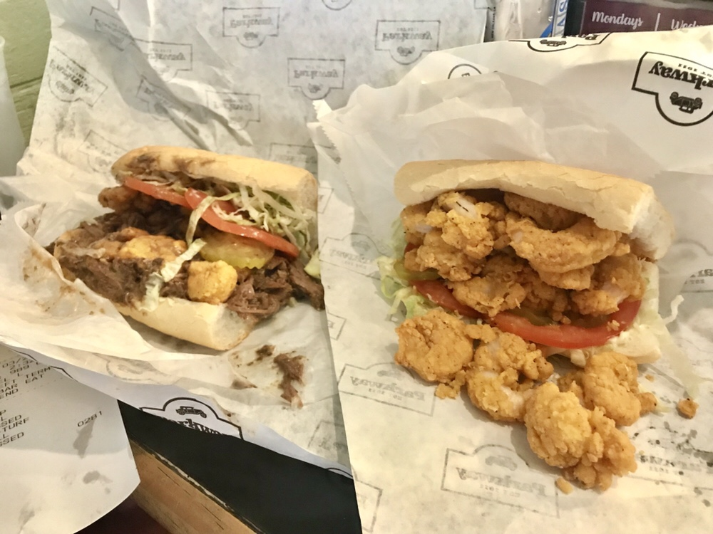 Parkway Bakery & Tavern crispy shrimp po' boy in New Orleans