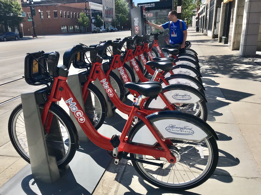 Paul at Detroit's bikeshare system is called MoGo
