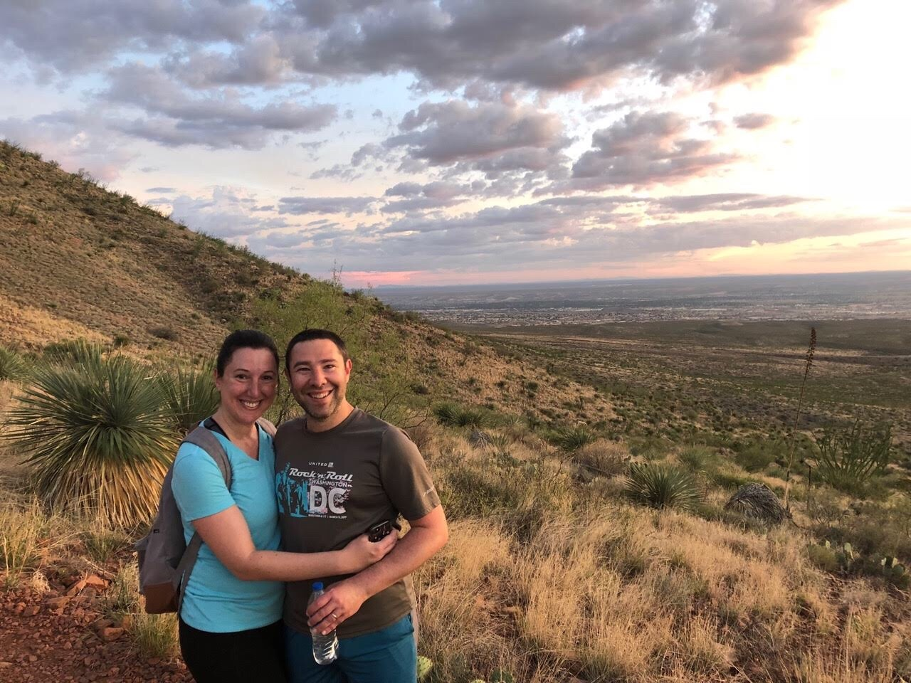 Paul and Marnay at Franklin Mountain State Park in El Paso, Texas