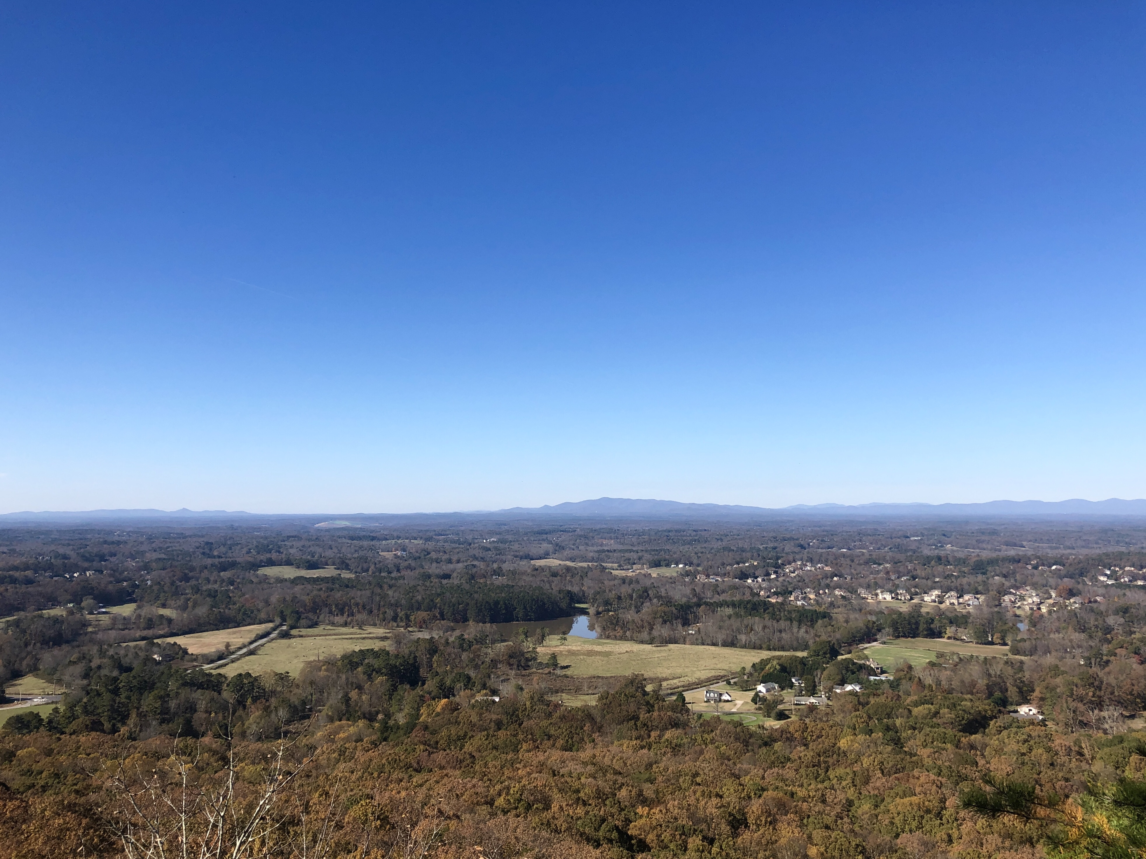 View from the top of our hike at Sawnee Mountain Preserve in Georgia