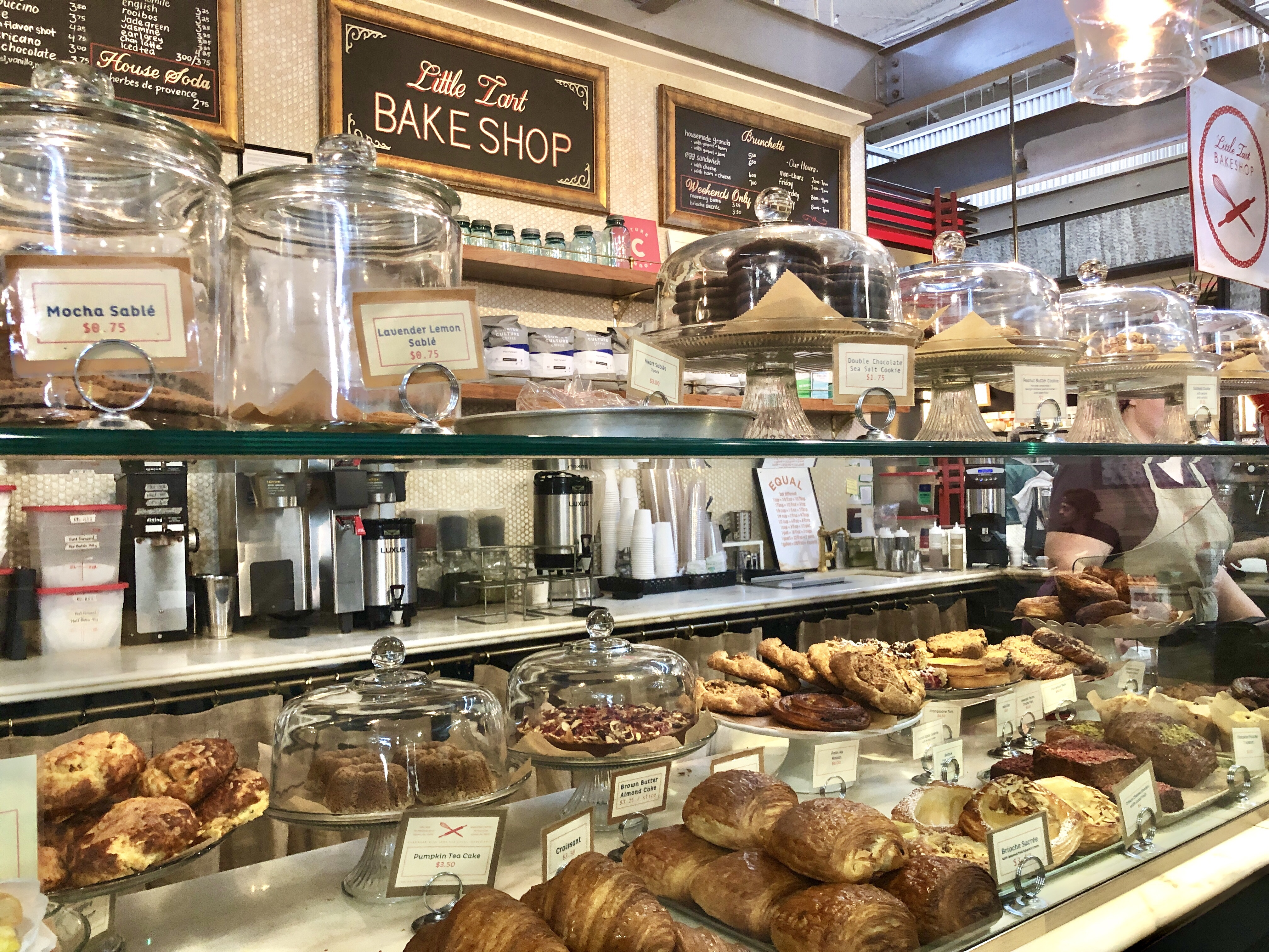 Breakfast at Little Tart Bakeshop at Krog Street Market in Atlanta