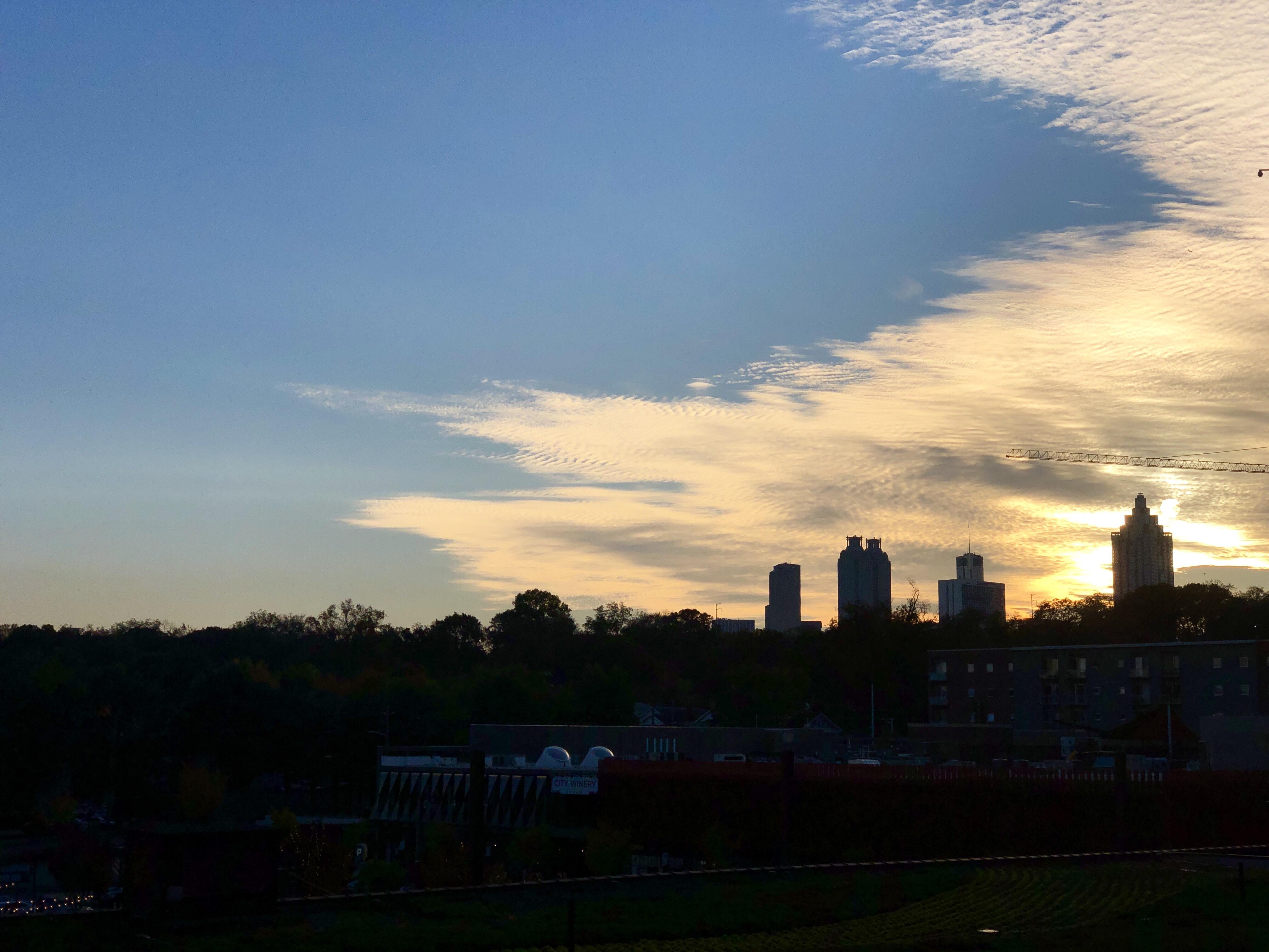 Atlanta skyline from the Beltline