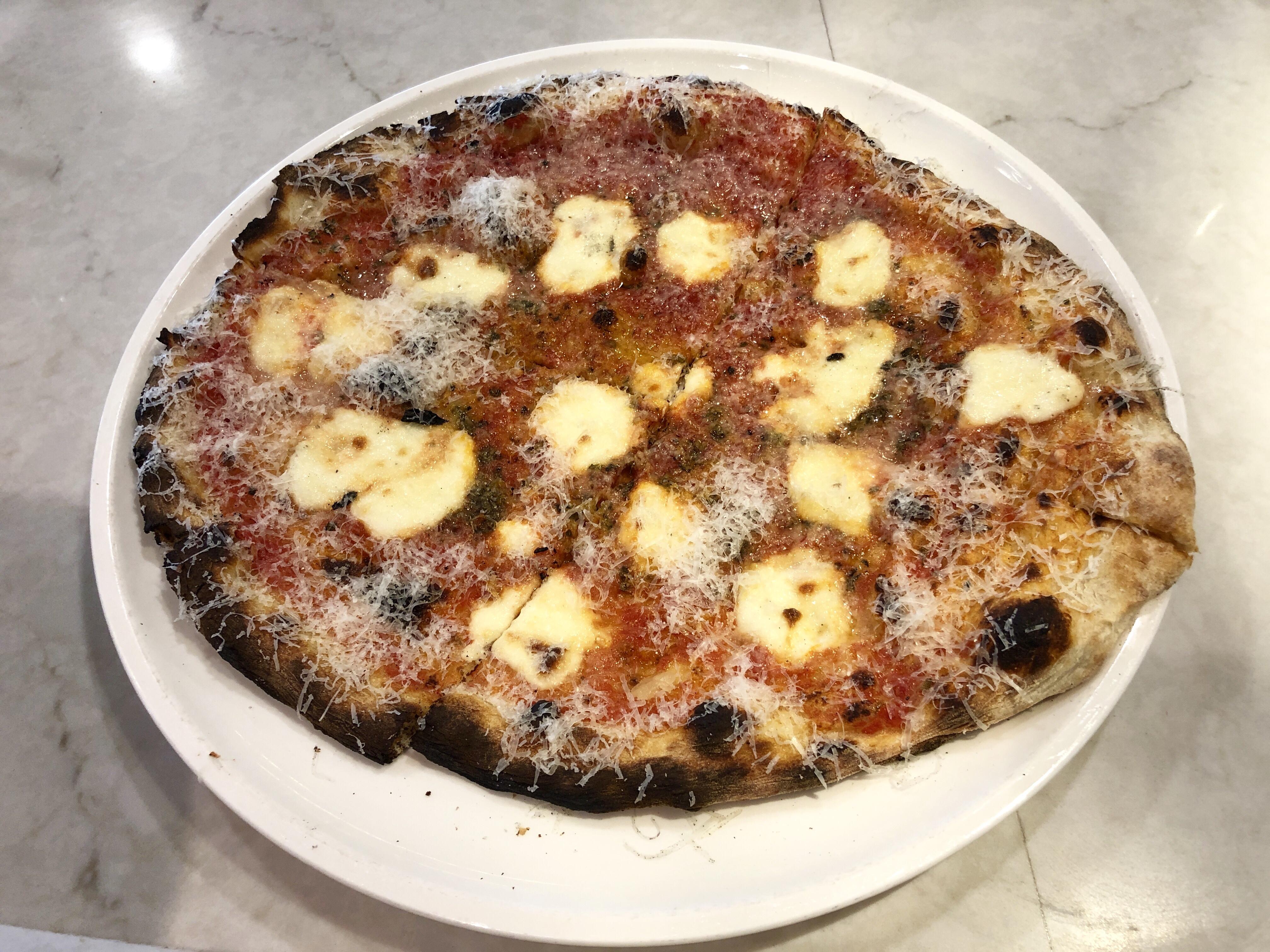 Pizza at Varasano's Pizza in the Hartsfield-Jackson airport in Atlanta