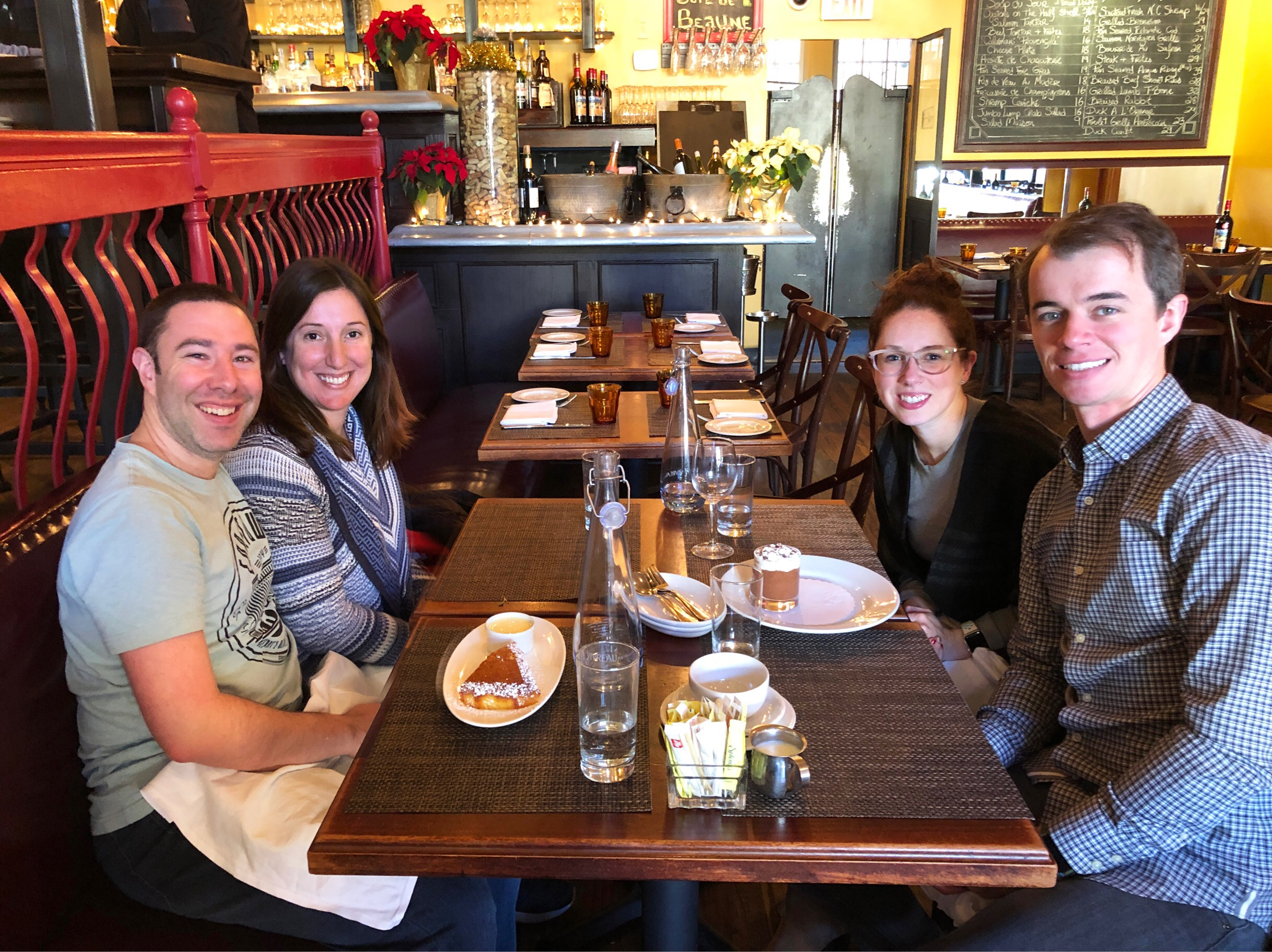 Marnay, Paul, Kyle and Brenna eating brunch at La Piquette in Washington DC