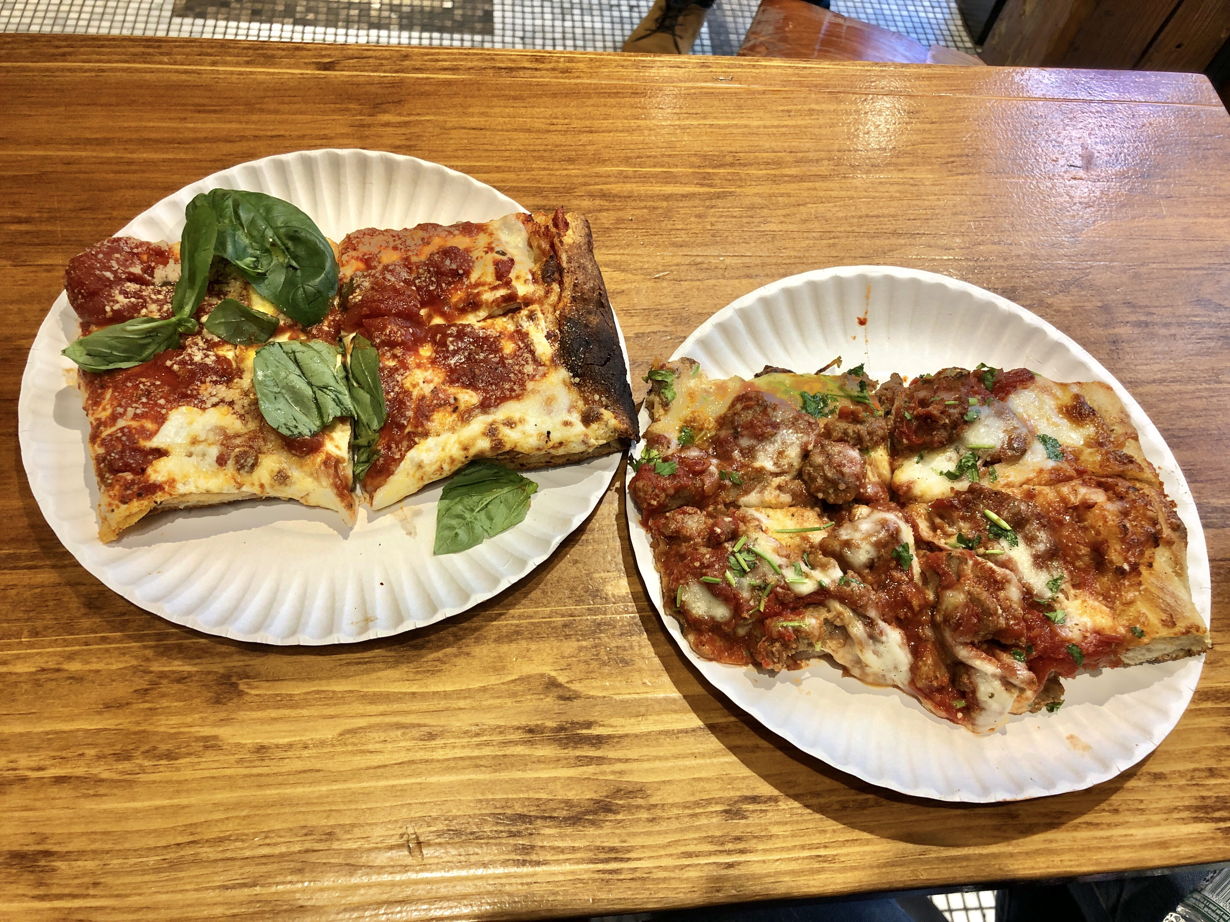 My Pie Pizzeria Romana pizza slice from our New York Pizza tour