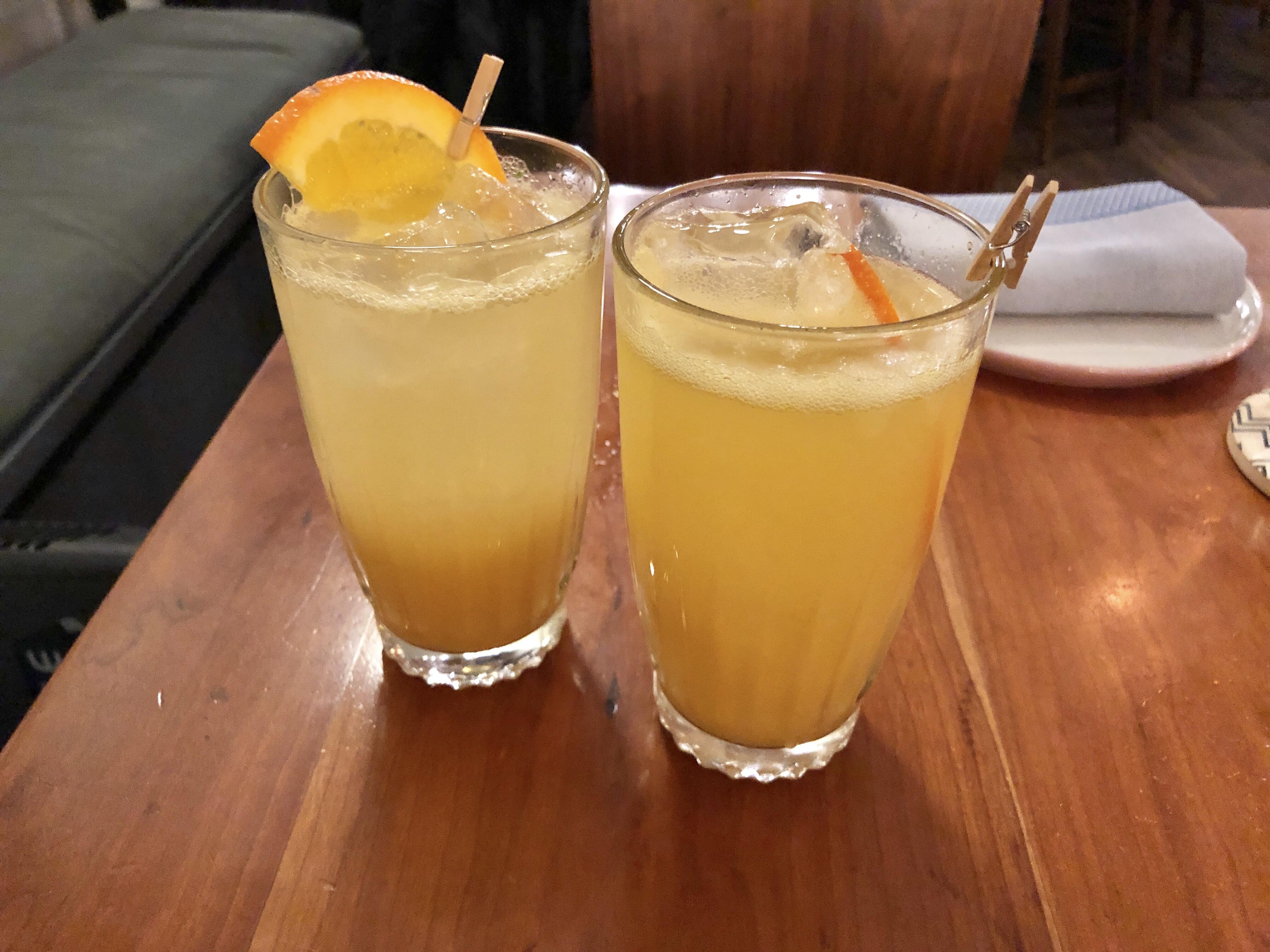 Orange Ginger cocktails at Himitsu restaurant in Petworth, DC