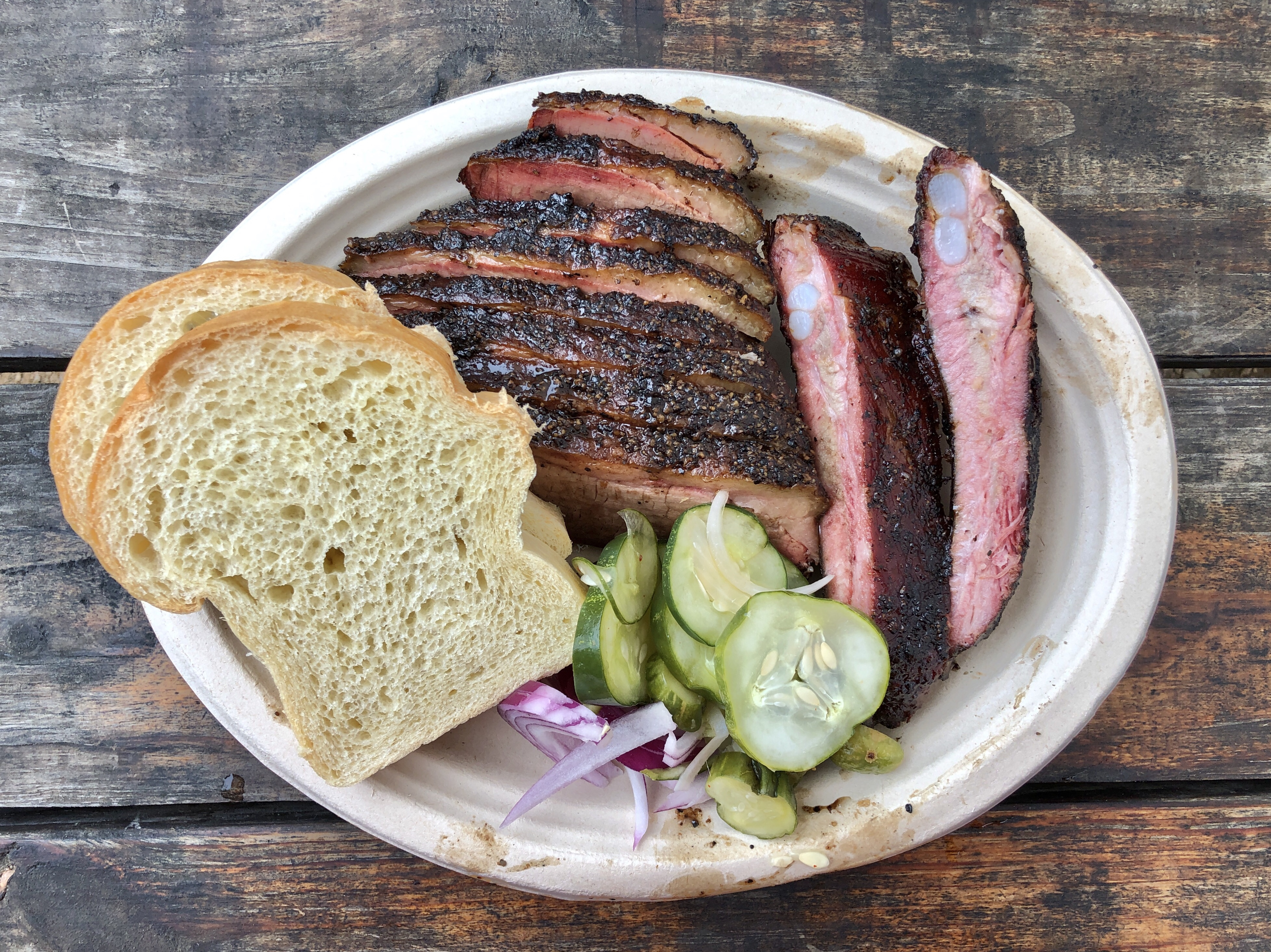 Micklethwait Craft Meats barbecue plate in Austin, Texas