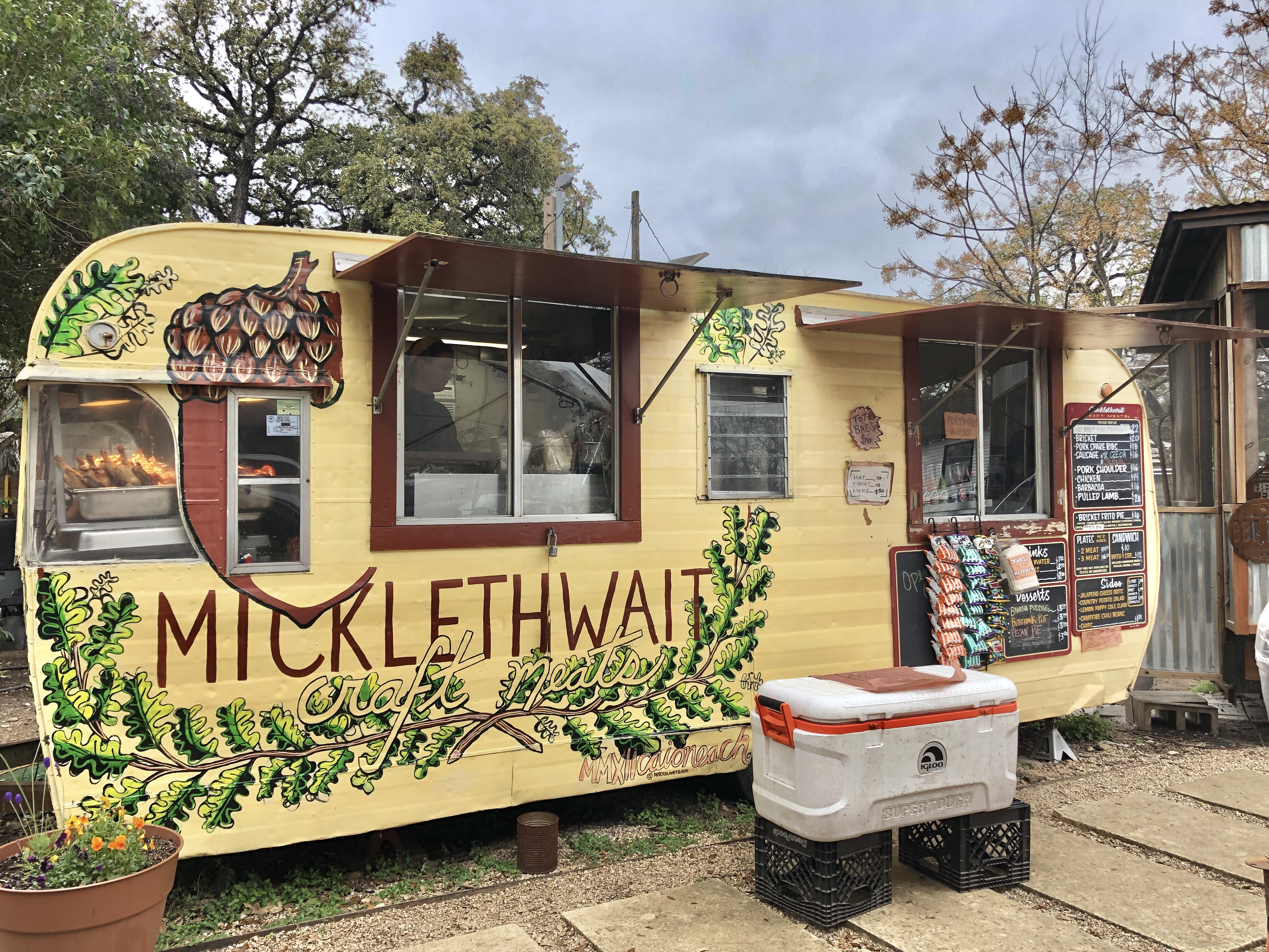 Micklethwait Craft Meats barbecue truck in Austin, Texas