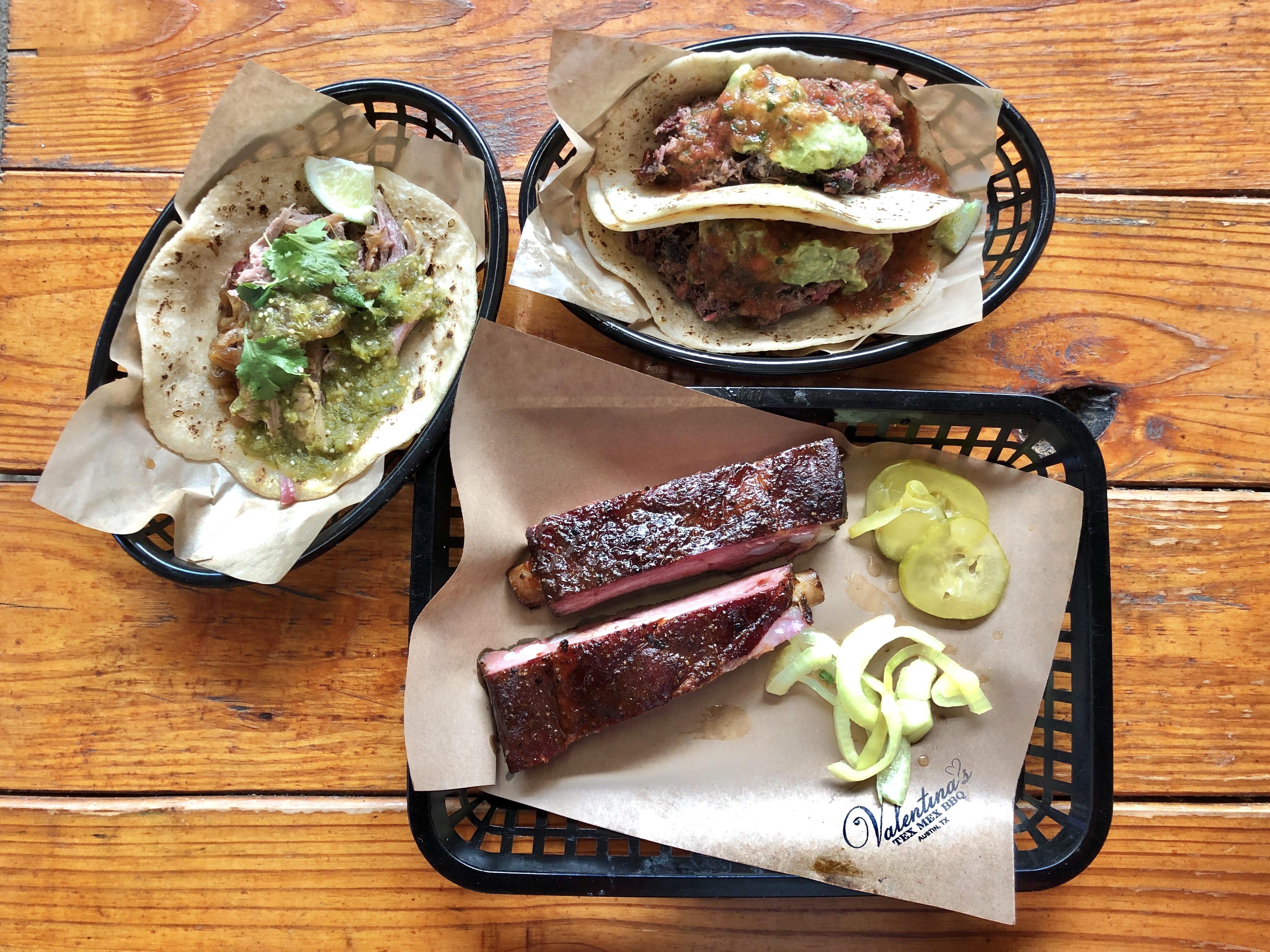 Lunch at Valentina's Tex-Mex BBQ in Austin, Texas
