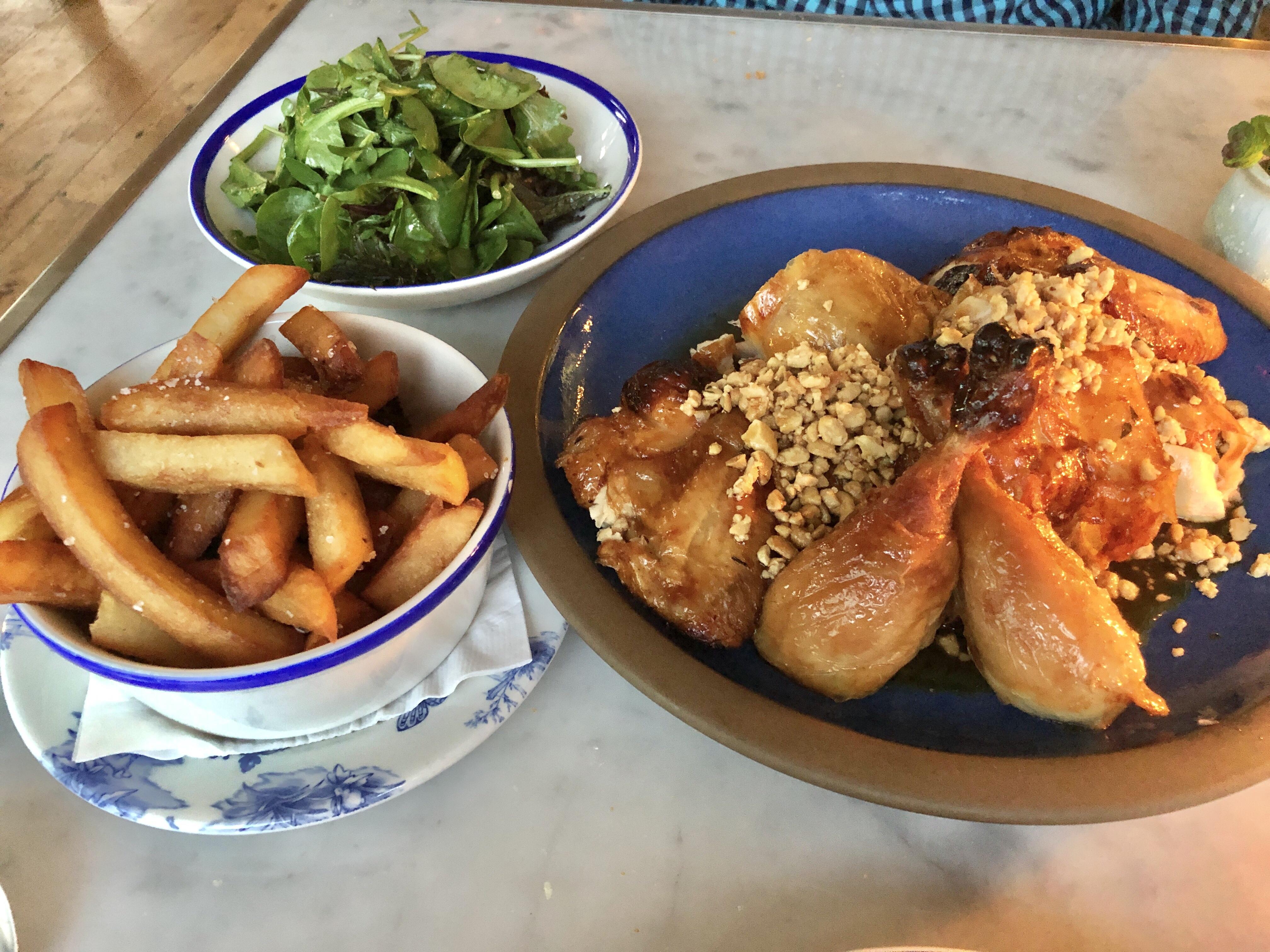 Roast chicken at Primrose in Brookland, DC