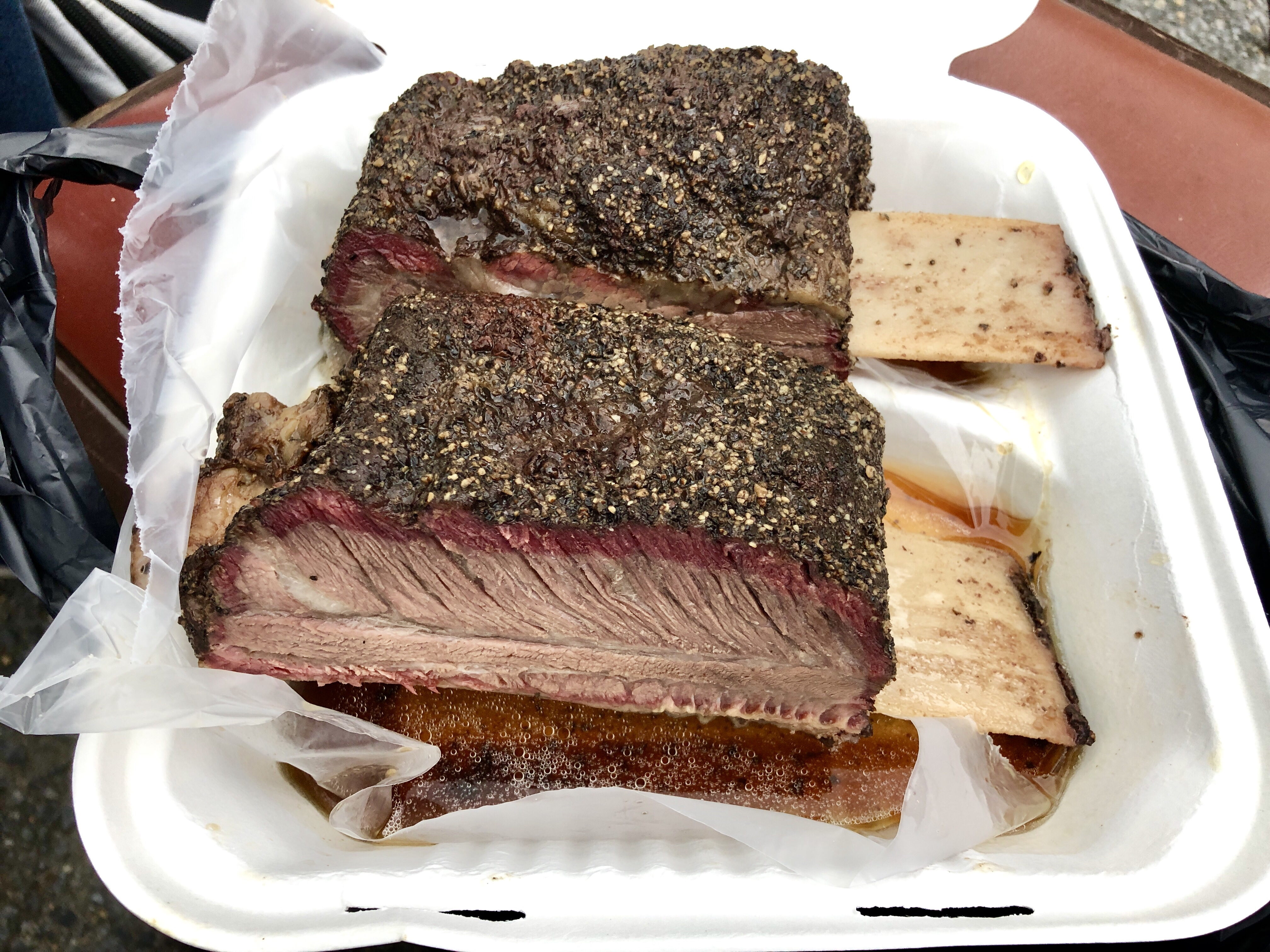 Beef ribs at 250 Texas BBQ in Riverdale Park, Maryland