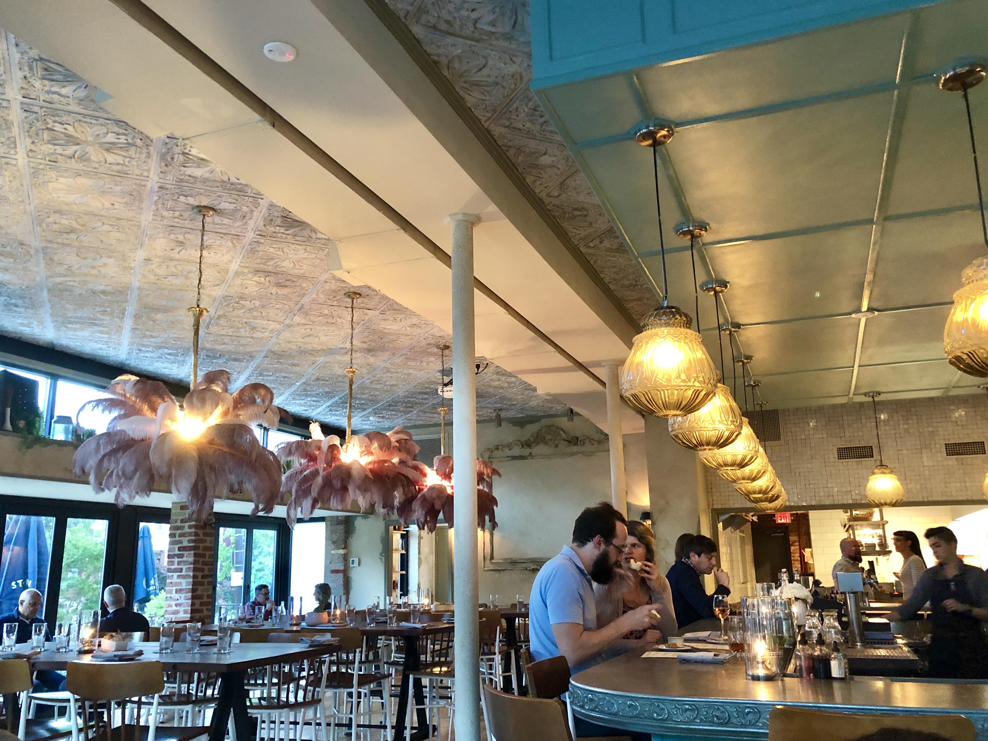 Wine at the bar at Primrose in Brookland, DC