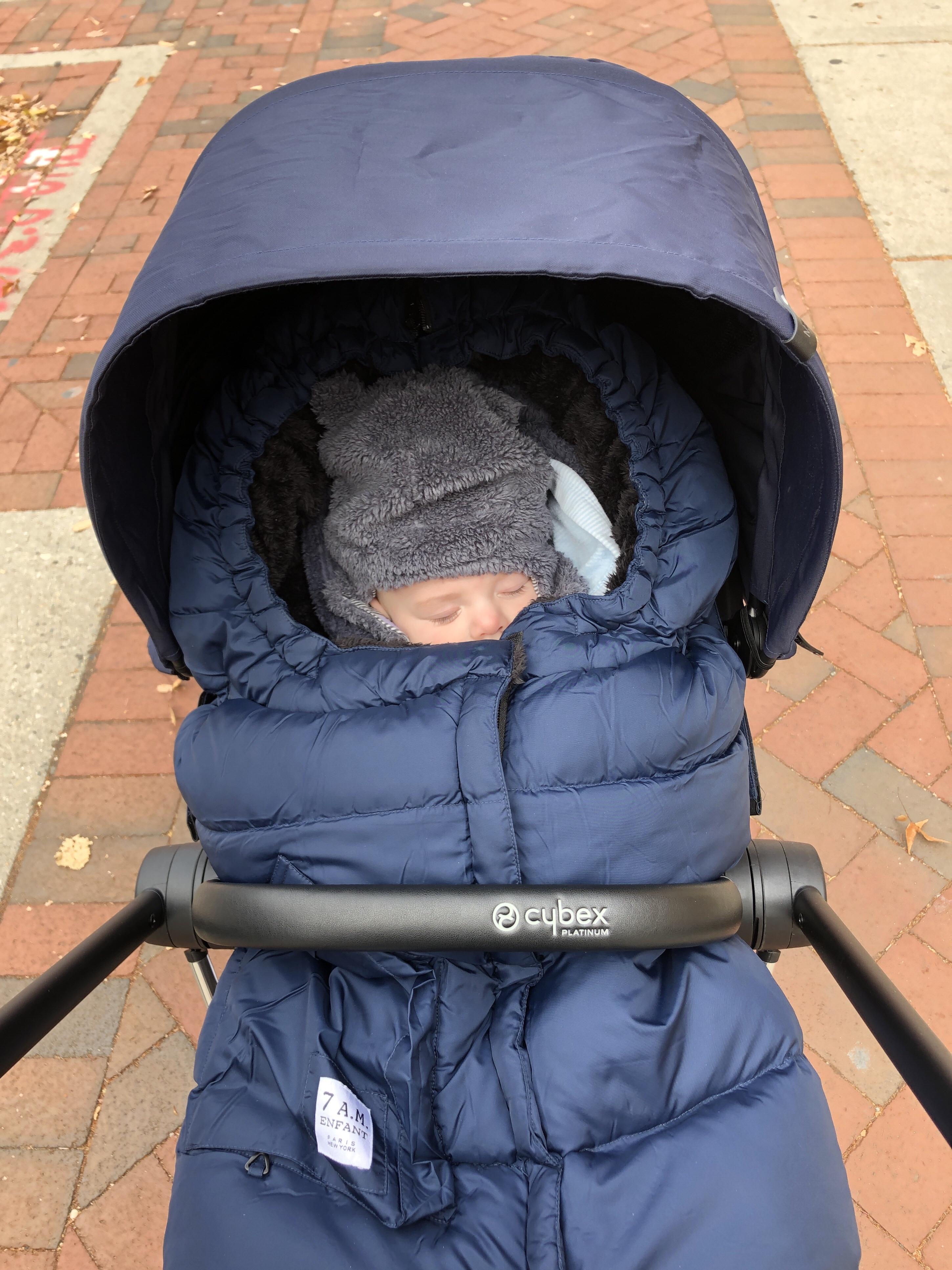 Brendan in his stroller in Richmond, Virginia